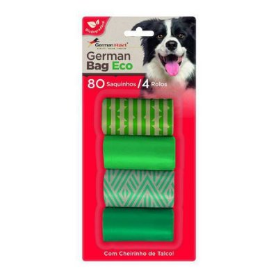 Kit Refil Saquinhos Cata Caca German Hart Eco Bambu 4 Rolos