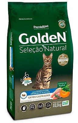 Ração para Gatos Adultos Golden Gatos Seleção Natural Castrados 3kg