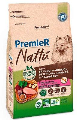 Ração para Cães Adultos Premier Nattú Raças Pequenas sabor Mandioca