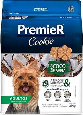 Biscoito para Cães Adultos Premier Cookie Coco e Aveia 250g