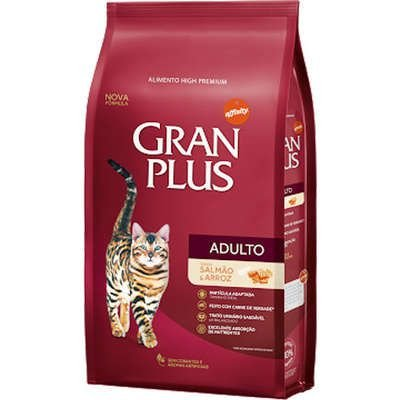 Ração Gran Plus para Gatos Adultos Salmão e Arroz 3kg