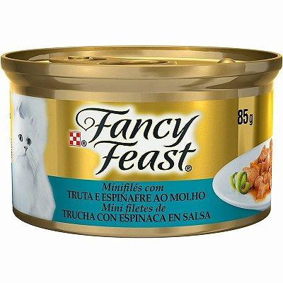 Fancy Feast Truta e Espinafre ao Molho 85g