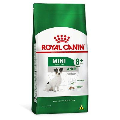 Ração Royal Canin Mini Adult 8+ para Cães Idosos de Raças Pequenas - Frango