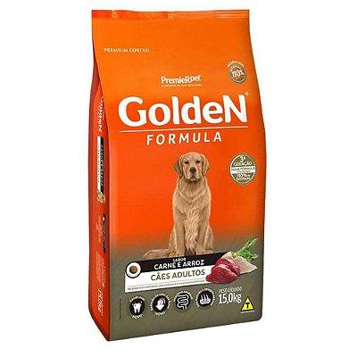 Ração para Cães Adultos Golden Formula Carne e Arroz
