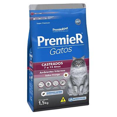 Ração para Gatos Idosos Premier Gatos Castrados 7 A 12 Anos