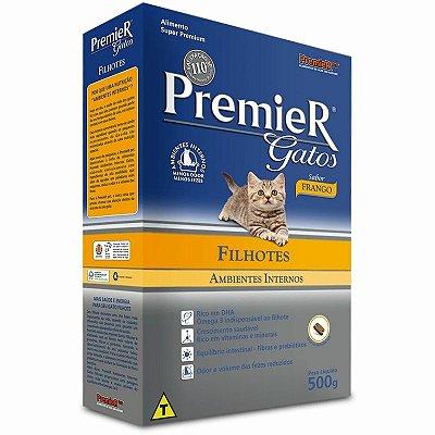 Ração Premier Gatos Ambientes Internos Filhotes Frango