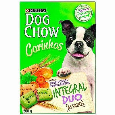 Biscoito Petisco Nestlé Purina Dog Chow Carinhos Integral Duo