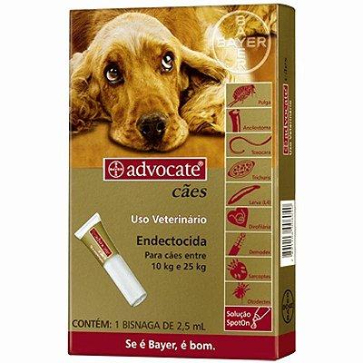 Antipulgas e Carrapatos Advocate para Cães 10 a 25KG - 2,5ML