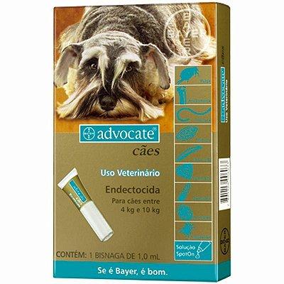 Antipulgas e Carrapatos Advocate para Cães 4 a 10KG - 1,0ML