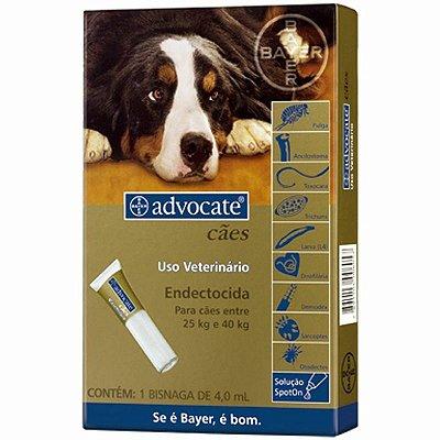 Antipulgas e Carrapatos Advocate para Cães 25 a 40KG - 4,0ML