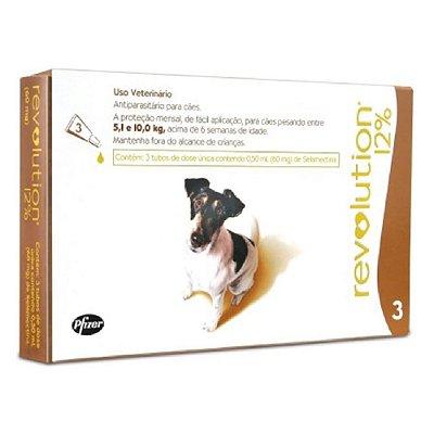 Antipulgas e Carrapatos Revolution para Cães 5,1 a 10kg - 3 Unidades