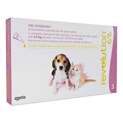 Antipulgas Revolution para Cães e Gatos Até 2,5kg - 3 Unidades