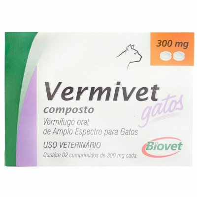 Vermivet Gatos 300MG - 2 Comprimidos
