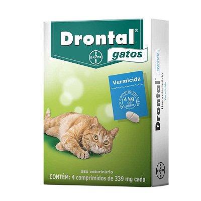 Vermífugo Drontal Gatos até 4kg - 4 Comprimidos