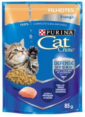 Ração Cat Chow Sache Filhotes Frango para Gatos 85g