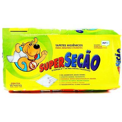Tapete Higiênico SuperSecão 30 Unidades - Petix