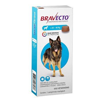Antipulgas e Carrapatos Bravecto Comprimido para Cães de 20 a 40 kg