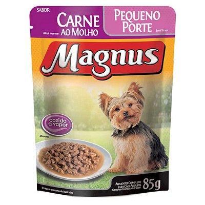 Ração Úmida para Cães Adultos Magnus Sache Carne ao Molho Pequeno Porte 85g