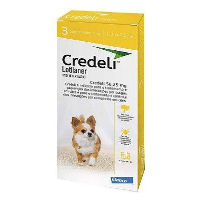 Antipulgas e Carrapatos Credeli Comprimido para Cães de 1,3 a 2,5kg - 3 comprimidos