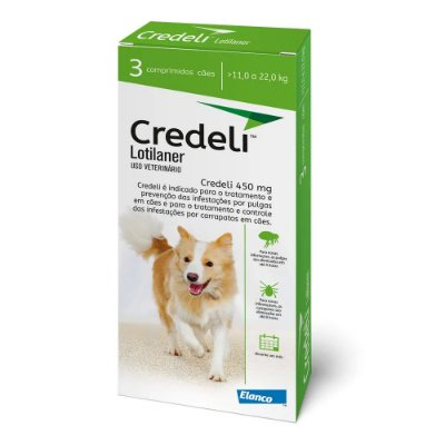 Antipulgas e Carrapatos Credeli Comprimido para Cães de 11 a 22kg - 3 comprimidos