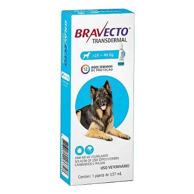 Antipulgas e Carrapatos Bravecto Transdermal para Cães de 20 a 40 kg