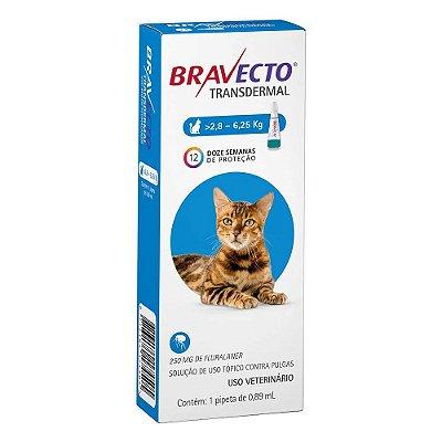 Antipulgas Bravecto Transdermal para Gatos de 2,8 a 6,25 kg
