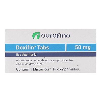 Ourofino - Doxifin Tabs 50 mg - 14 Comprimidos para Cães e Gatos