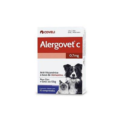 Alergovet 0,7 mg Anti - Histamínico 10 Comprimidos - Coveli