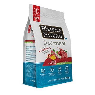 Ração para Cães Adultos Formula Natural Fresh Meat Mini e Pequenos - Cordeiro