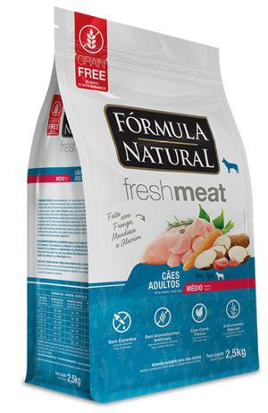 Ração para Cães Fórmula Natural Fresh Meat Adultos Raças Médias