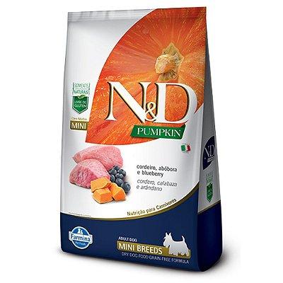 Ração para Cães Adultos Farmina N&D Pumpkin Raças Pequenas Cordeiro