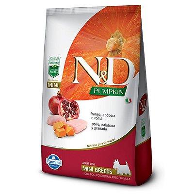 Ração para Cães Adultos Farmina N&D Pumpkin Raças Pequenas Frango