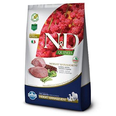 Ração para Cães Adultos Farmina N&D Quinoa Weight Management Cordeiro