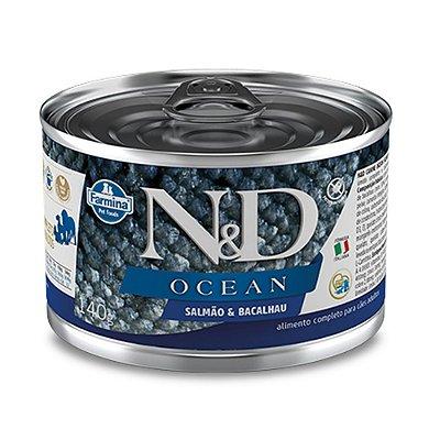 Ração para Cães Adultos Farmina N&D Ocean Lata Salmão e Bacalhau 140g
