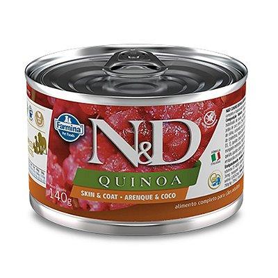 Ração para Cães Adultos Farmina N&D Quinoa Lata Skin Arenque e Coco 140g