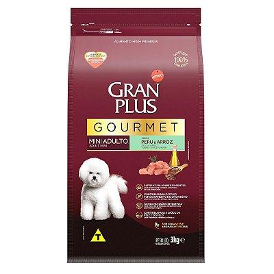 Ração para Cães Adultos Gran Plus Gourmet Raças Pequenas Peru e Arroz