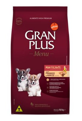 Ração para Cães Filhotes Gran Plus Raças Pequenas Frango e Arroz