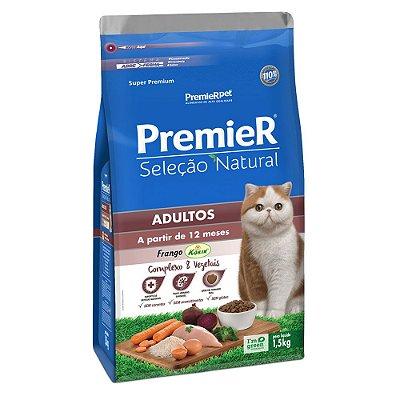 Ração para Gatos Adultos Premier Seleção Natural Frango Korin