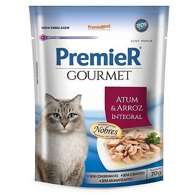 Ração para Gatos Premier Gourmet Atum e Arroz Integral 70g