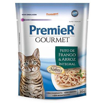 Ração para Gatos Premier Gourmet Peito de Frango e Arroz Integral 70g