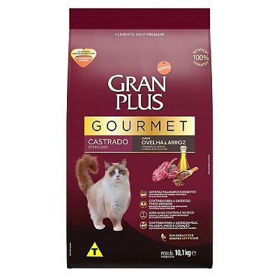 Ração para Gatos Adultos Gran Plus Gourmet Castrado Ovelha e Arroz