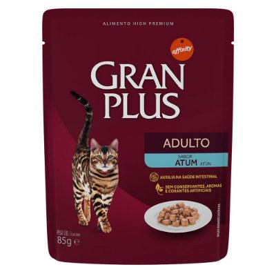 Ração para Gatos Adultos Gran Plus Sache Atum 85g