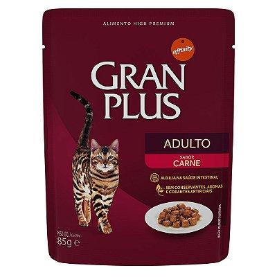 Ração para Gatos Adultos Gran Plus Sache Carne 85g