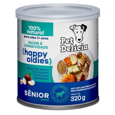 Ração Úmida para Cães Pet Delícia Sênior 320g