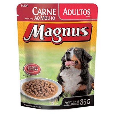 Ração Úmida para Cães Adultos Magnus Sache Carne ao Molho 85g
