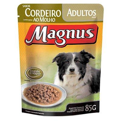 Ração Úmida para Cães Adultos Magnus Sache Cordeiro ao Molho 85g