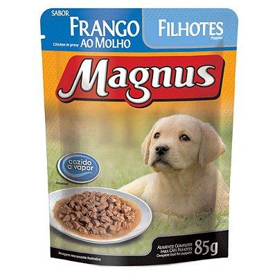 Ração Úmida para Cães Filhotes Magnus Sache Frango ao Molho 85g