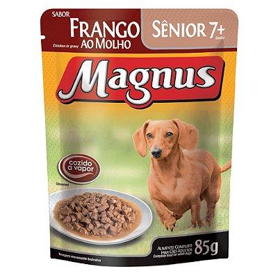 Ração Úmida para Cães Idosos Magnus Sache Sênior Frango ao Molho 85g