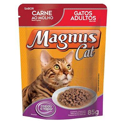 Ração Úmida para Gatos Adultos Magnus Sache Carne ao Molho 85g