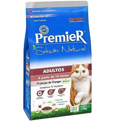 Ração Premier Seleção Natural para Gatos Adultos 1,5kg